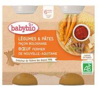 Babybio Pot Légumes Pâtes Bolognaise Boeuf à Bordeaux