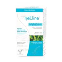 Netline Crème Visage/corps Décolorante Peau Sensible 30+30ml à Bordeaux
