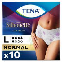 Tena Lady Silhouette Slip Absorbant Blanc Normal Large Paquet/10 à Bordeaux