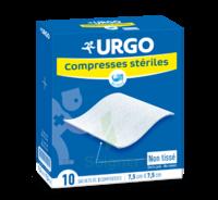 Urgo Compresse Stérile Non Tissée 10x10cm 10 Sachets/2 à Bordeaux